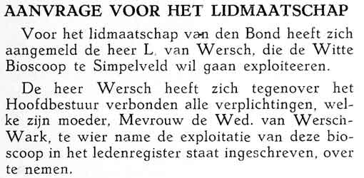 Officieel Orgaan van den Nederlandschen Bioscoop Bond, 1938