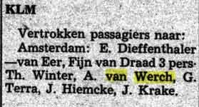 De Surinamer van 1955. Albert vertrekt naar Amsterdam.