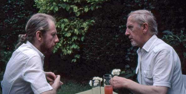 Johan met zijn vader Albert van Weers