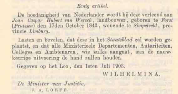 staatscourant 1903