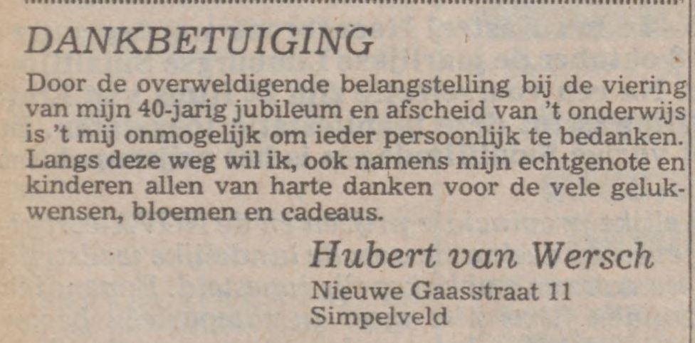 Hubert van Wersch