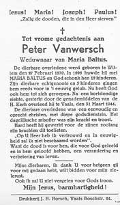 bidprentje-peter-vanwersch