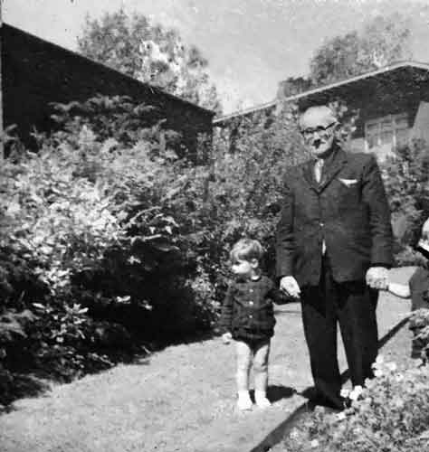 Willem van Wersch met kleinkind