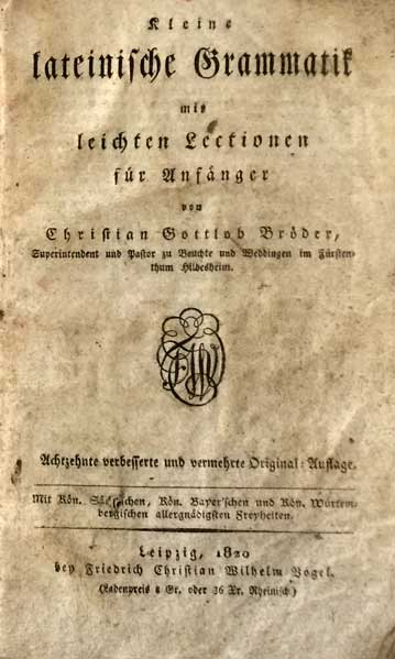 Latijns lesboekje
