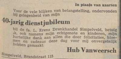 Hub Vanweersch