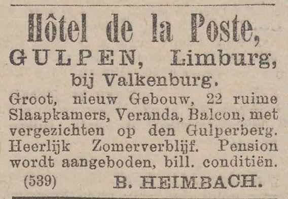 hotel de la poste Heimbach