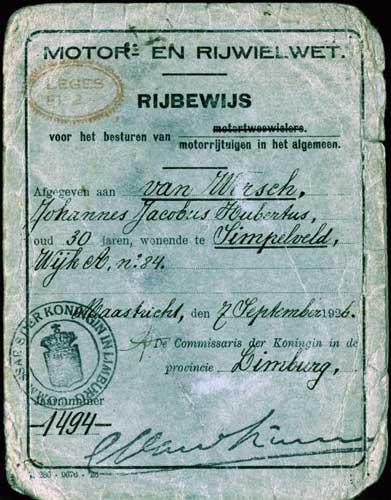 rijbewijs 1926