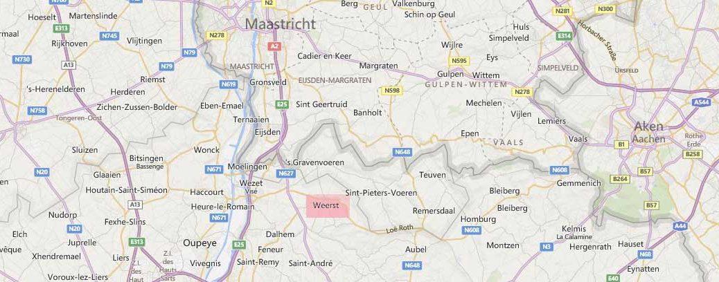 warsage landkaart