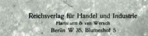 hartmann & van wersch