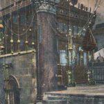Ansichtkaart uit Bethlehem van de binnenkant van de Geboortekerk. Franz voer in 1908 in die gebieden.