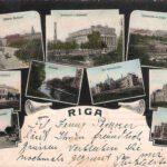 Riga, de hoofdstad van Letland. De kaart is in november 1908 verzonden.
