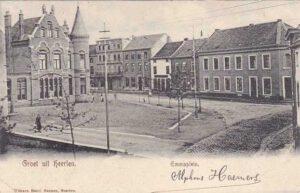 1905. In het witte pand zat de verfwinkel van Willem van Wersch