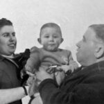 Marie Vanwersch-Gatez met hun zoon Jean Claude en Jean Louis Vanwersch